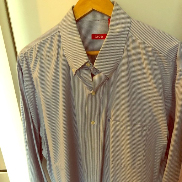 Izod Other - IZOD Striped Blue Shirt 17 1/2 Collar 32-33 inches